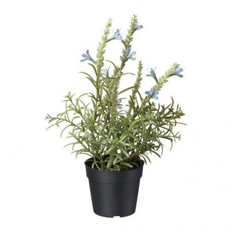 Искусственное растение в горшке ФЕЙКА лаванда синий фото 3
