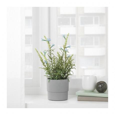Искусственное растение в горшке ФЕЙКА лаванда синий фото 4