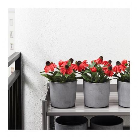 Искусственное растение в горшке ФЕЙКА д/дома/улицы, Рудбекия красный фото 4
