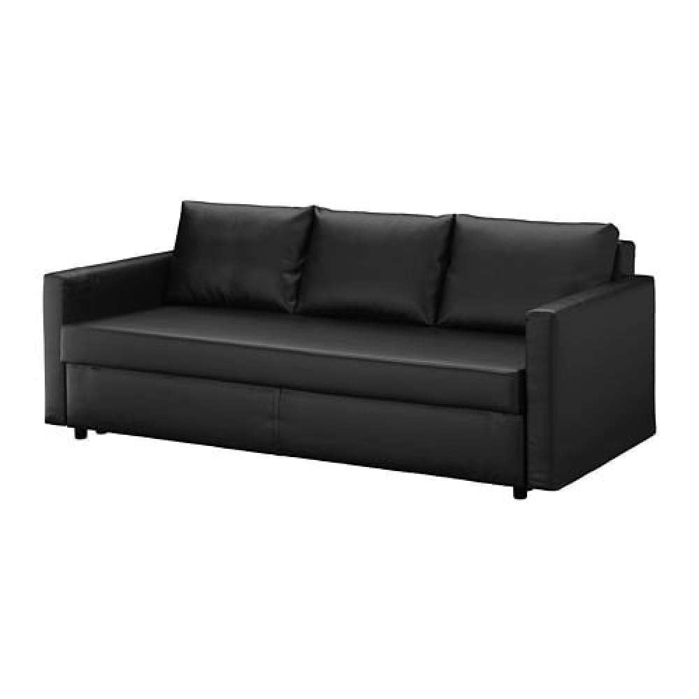 3-местный диван-кровать ФРИХЕТЭН Бумстад черный  фото 1
