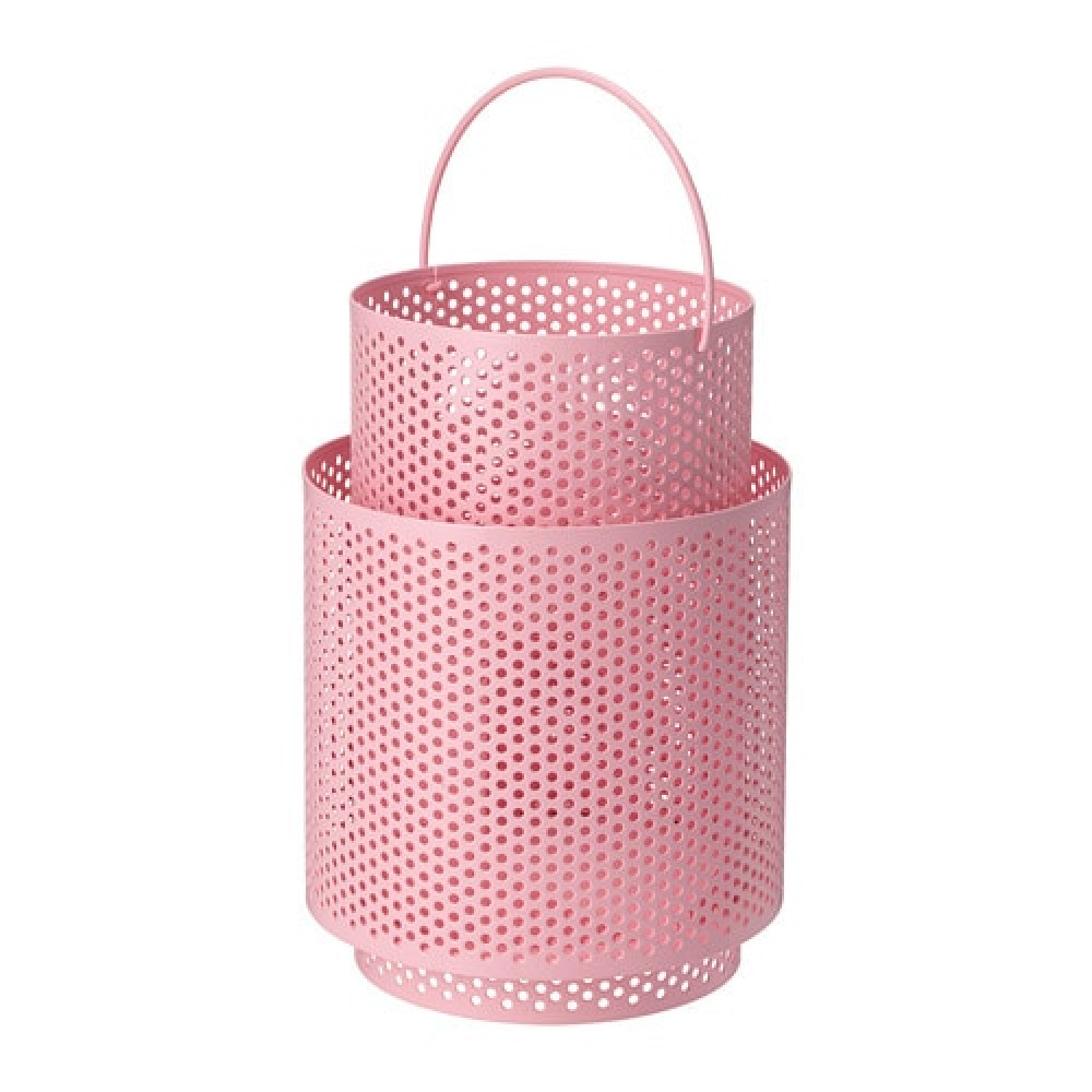 Фонарь для формовой свечи БЕГЕРСКА розовый  фото 1