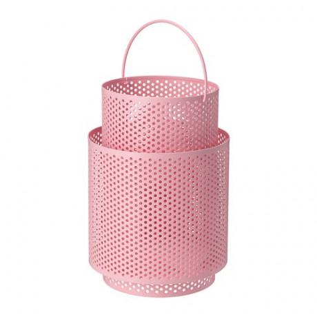 Фонарь для формовой свечи БЕГЕРСКА розовый фото 3