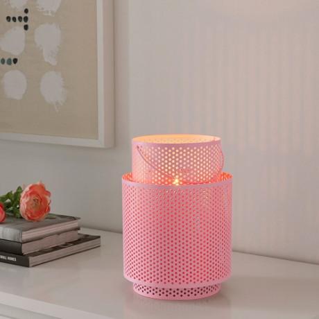 Фонарь для формовой свечи БЕГЕРСКА розовый фото 4