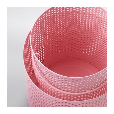 Фонарь для формовой свечи БЕГЕРСКА розовый фото 5