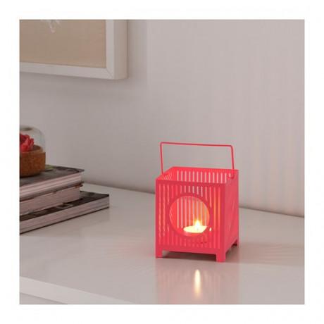 Фонарь для греющей свечи БЕМАННА розовый фото 4