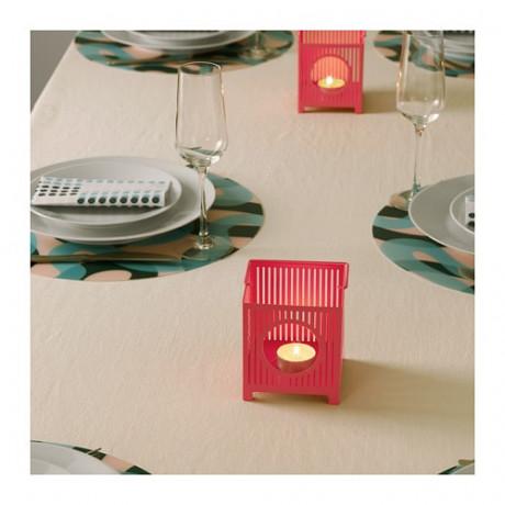 Фонарь для греющей свечи БЕМАННА розовый фото 5