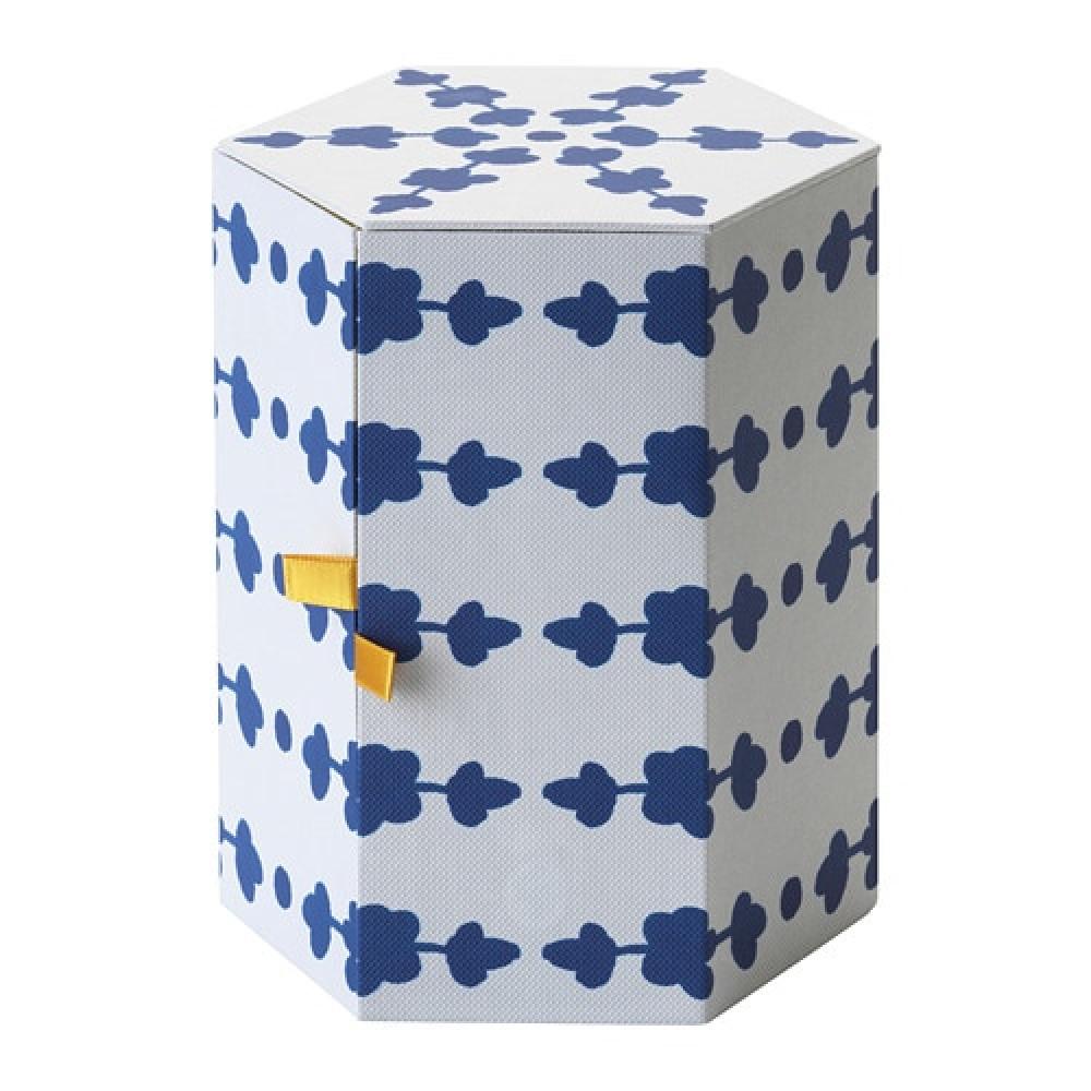 Декоративная коробка АНИЛИНАРЕ белый, синий  фото 1