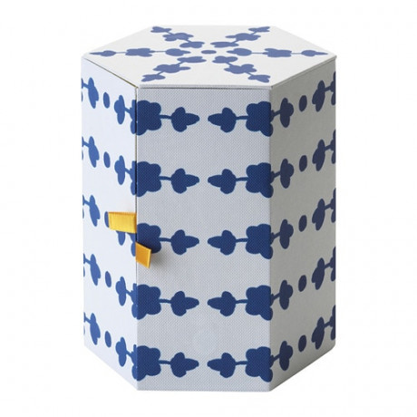 Декоративная коробка АНИЛИНАРЕ белый, синий фото 3