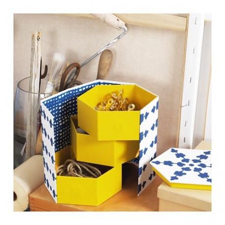 Декоративная коробка АНИЛИНАРЕ белый, синий фото 4