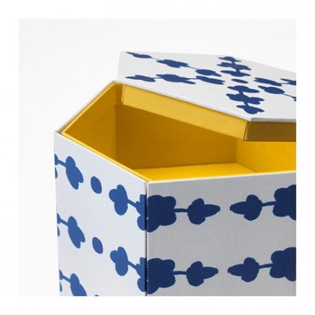 Декоративная коробка АНИЛИНАРЕ белый, синий фото 5