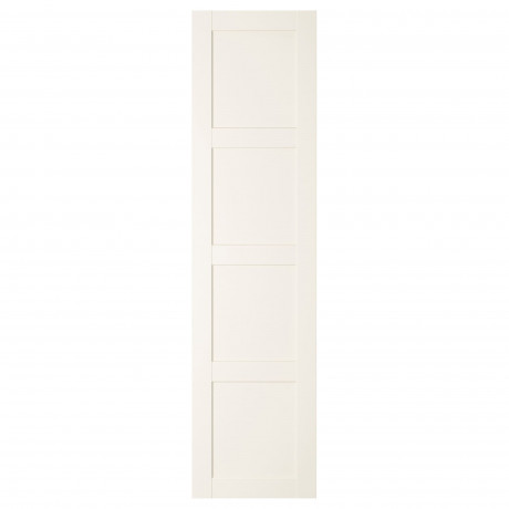 Дверца с петлями БЕРГСБУ белый фото 1