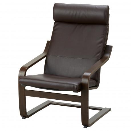Подушка-сиденье на кресло ПОЭНГ Кимстад темно-коричневый  фото 1