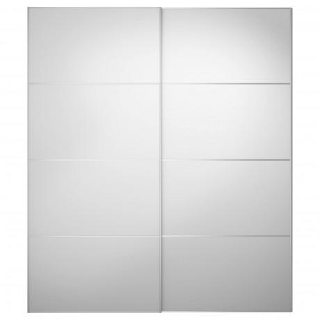 Пара раздвижных дверей АУЛИ зеркальное стекло фото 5