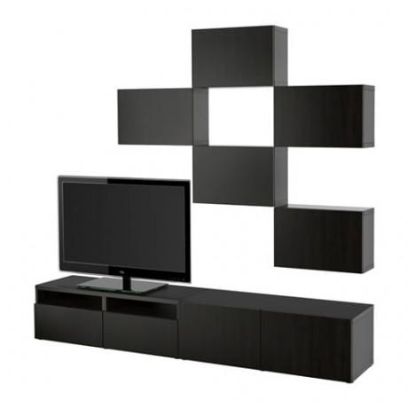 Шкаф для ТВ, комбинация БЕСТО под беленый дуб, вассвикен белый фото 40