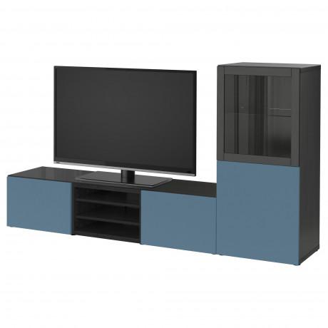 Шкаф для ТВ, комбин/стеклян дверцы БЕСТО белый Лаппвикен, Синдвик белый прозрачное стекло фото 12