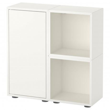 Комбинация шкафов с ножками ЭКЕТ белый/оранжевый, светло-серый фото 2