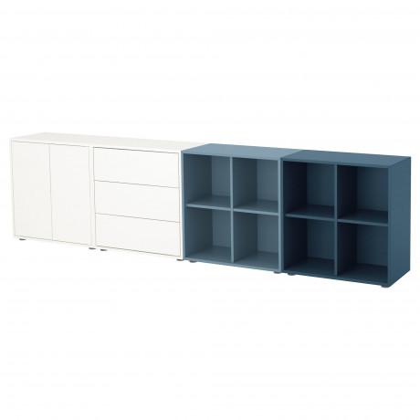 Комбинация шкафов с ножками ЭКЕТ белый/светло-серый, темно-серый фото 2