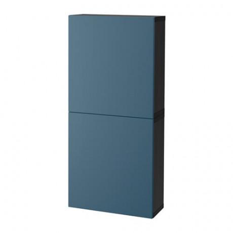 Навесной шкаф с 2 дверями БЕСТО под беленый дуб, вассвикен белый фото 18