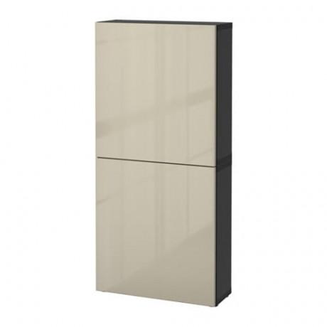 Навесной шкаф с 2 дверями БЕСТО под беленый дуб, вассвикен белый фото 13
