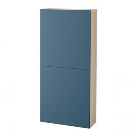 Навесной шкаф с 2 дверями БЕСТО под беленый дуб, вассвикен белый фото 36