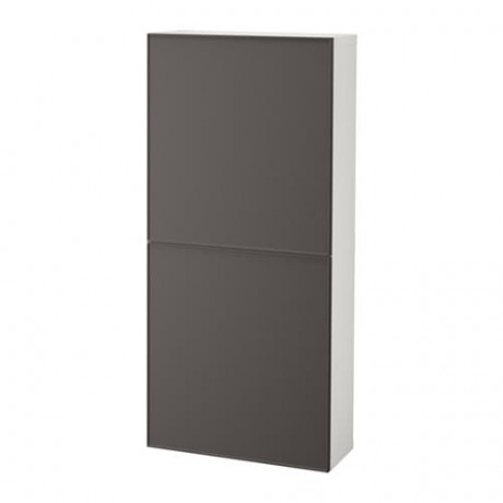 Навесной шкаф с 2 дверями БЕСТО под беленый дуб, вассвикен белый фото 21