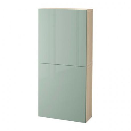 Навесной шкаф с 2 дверями БЕСТО под беленый дуб, вассвикен белый фото 35