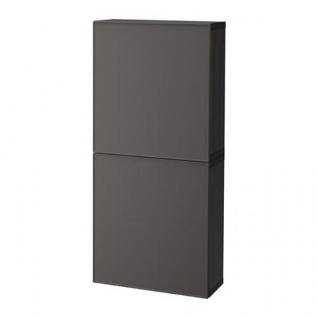 Навесной шкаф с 2 дверями БЕСТО под беленый дуб, вассвикен белый фото 9