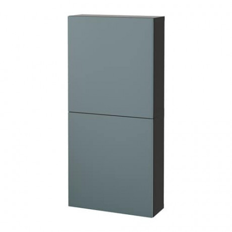 Навесной шкаф с 2 дверями БЕСТО под беленый дуб, вассвикен белый фото 17