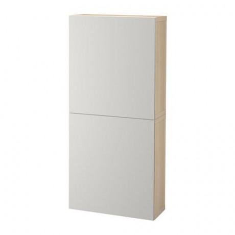 Навесной шкаф с 2 дверями БЕСТО под беленый дуб, вассвикен белый фото 32