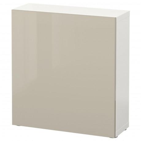 Стеллаж с дверью БЕСТО белый, Лаппвикен белый фото 9