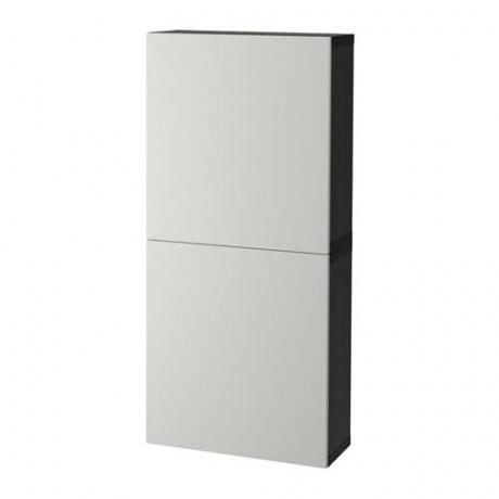 Навесной шкаф с 2 дверями БЕСТО под беленый дуб, вассвикен белый фото 12