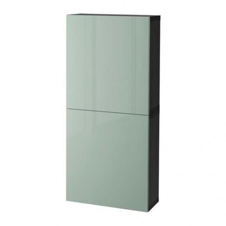 Навесной шкаф с 2 дверями БЕСТО под беленый дуб, вассвикен белый фото 16