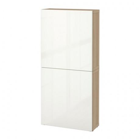 Навесной шкаф с 2 дверями БЕСТО под беленый дуб, вассвикен белый фото 34