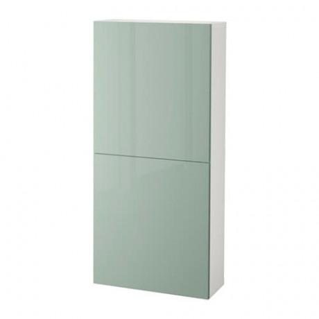 Навесной шкаф с 2 дверями БЕСТО под беленый дуб, вассвикен белый фото 26