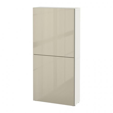 Навесной шкаф с 2 дверями БЕСТО под беленый дуб, вассвикен белый фото 25