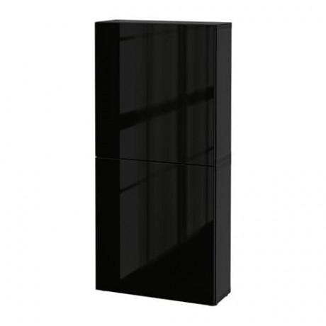 Навесной шкаф с 2 дверями БЕСТО под беленый дуб, вассвикен белый фото 15