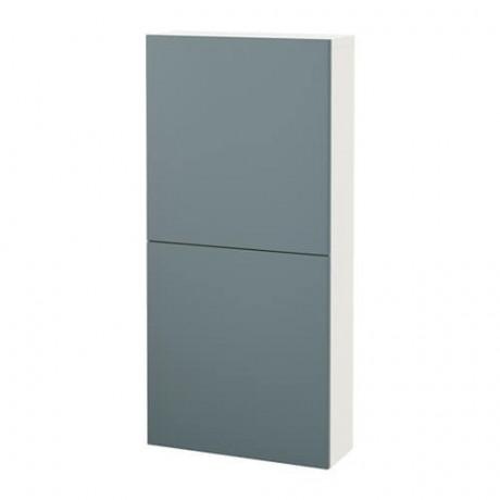 Навесной шкаф с 2 дверями БЕСТО под беленый дуб, вассвикен белый фото 28