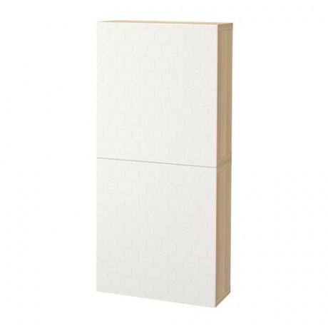 Навесной шкаф с 2 дверями БЕСТО под беленый дуб, вассвикен белый фото 39