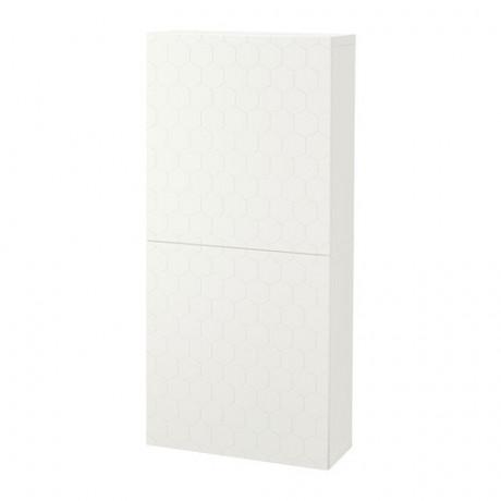 Навесной шкаф с 2 дверями БЕСТО под беленый дуб, вассвикен белый фото 38