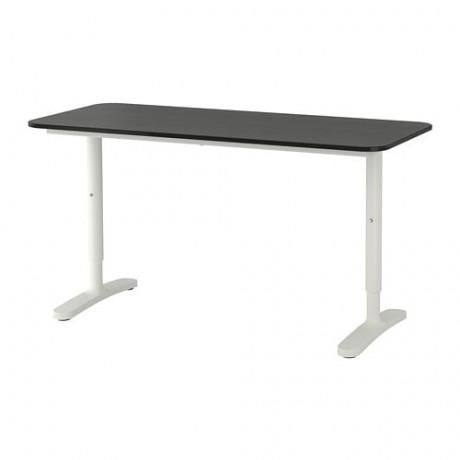 Письменный стол БЕКАНТ белый, черный фото 3