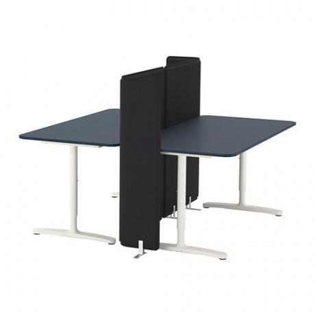 Стол с экраном БЕКАНТ белый фото 5