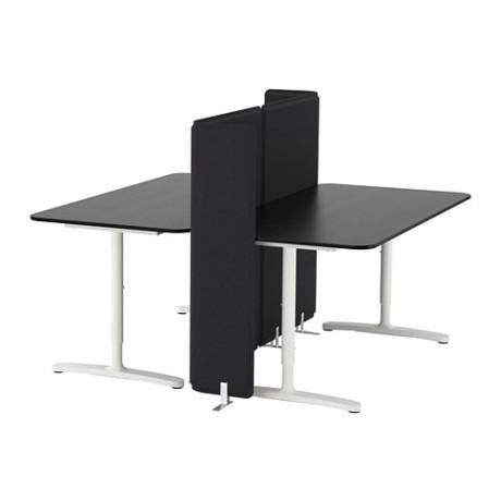 Стол с экраном БЕКАНТ белый фото 3