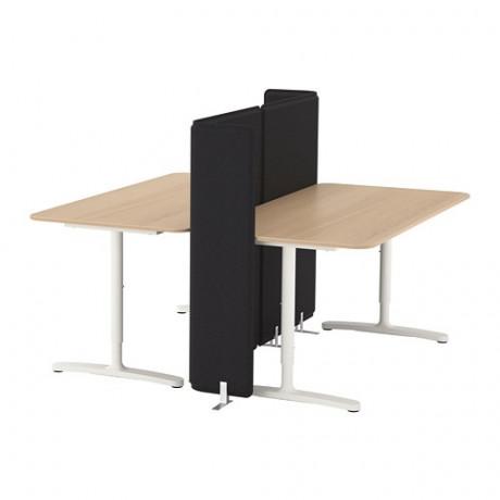 Стол с экраном БЕКАНТ белый фото 7