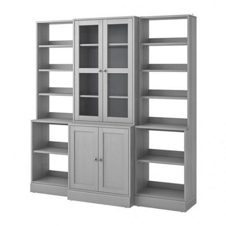 Комбинация д/хранения+стекл дверц  ХАВСТА  фото 1