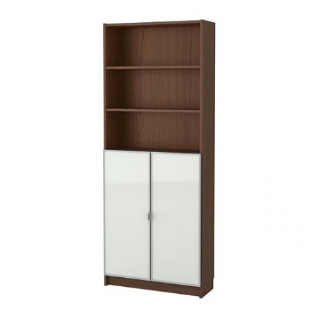 Шкаф книжный со стеклянными дверьми  БИЛЛИ / МОРЛИДЕН фото 4