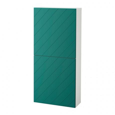 Навесной шкаф с 2 дверями БЕСТО под беленый дуб, вассвикен белый фото 4