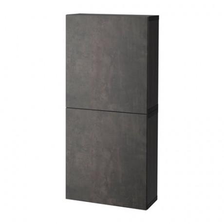 Навесной шкаф с 2 дверями БЕСТО под беленый дуб, вассвикен белый фото 3