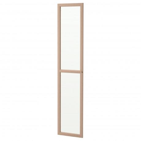 Стеклянная дверь ОКСБЕРГ белый фото 2