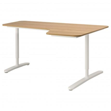 Углов письм стол правый БЕКАНТ белый фото 8
