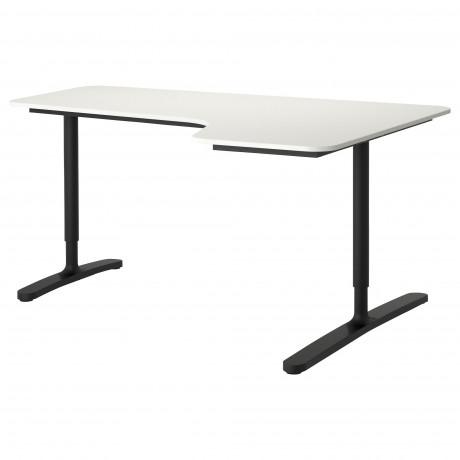 Углов письм стол правый БЕКАНТ белый фото 2